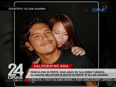 Pangulong Duterte, naglabas ng saloobin tungkol sa naging relasyon ni Baste Duterte at Ellen Adarna