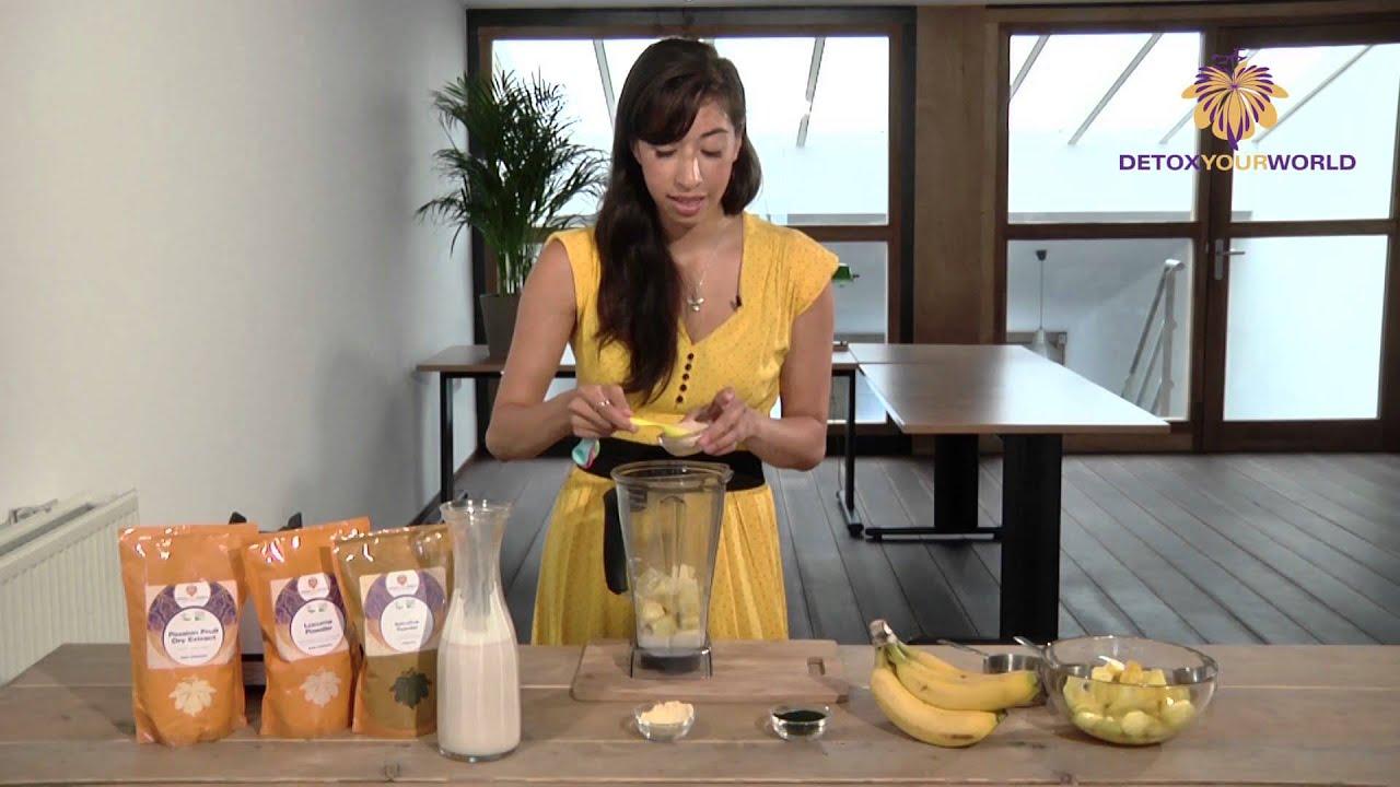 Spirulina Powder Recipe - Spirulina Tropical Smoothie