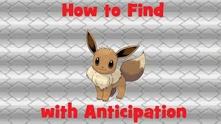 How to Find: Eeeve with Anticipation thumbnail