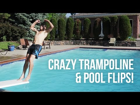INSANE TRAMPOLINE POOL PARTY AT A MANSION!
