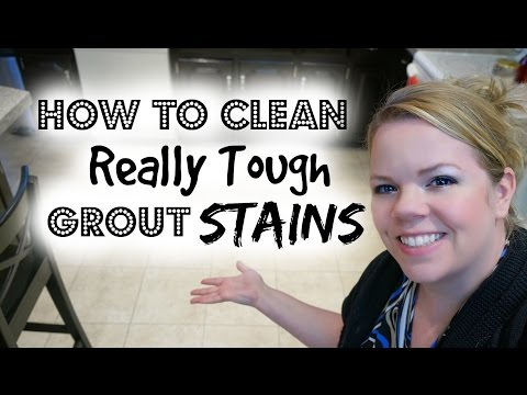 How to clean tough grout stains