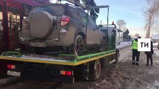 Автомобиль казанца, сбившего на «зебре» пешехода, отправили на штрафстоянку из за долгов