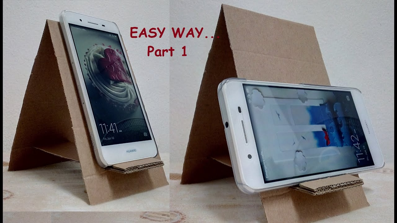 diy cell phone stand cardboard