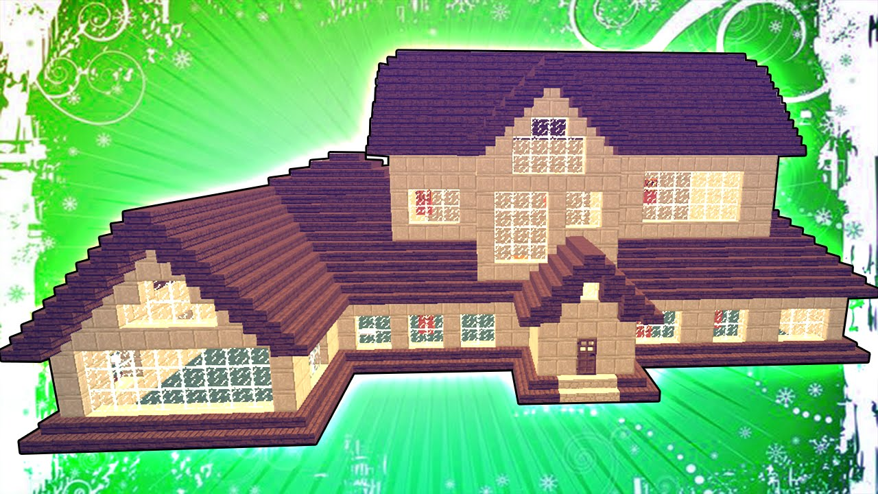 Постройка красивого дома в майнкрафт схема