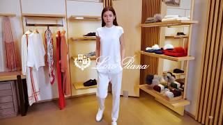 Новая коллекция Loro Piana Женский образ спорт Фирменный бутик в Лакшери Store Тренды 2020
