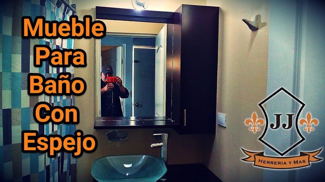 Como hacer mueble para ba o con espejo youtube - Como hacer mueble para bano ...