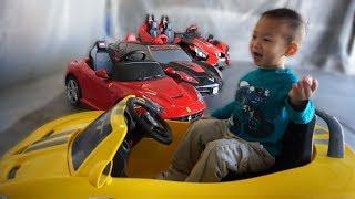 Kids Fun Power Wheels Collection - Slingshot, Corvette, Ferrari F12, Viper SRT