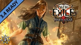 Herald of Blade Vortex Build - Elementalist Witch - Path of Exile War For The