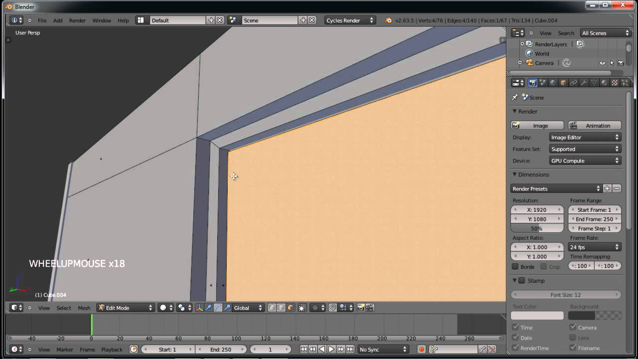 blender tutorial deutsch fenster in w nde einbauen von anfang bis ende youtube. Black Bedroom Furniture Sets. Home Design Ideas