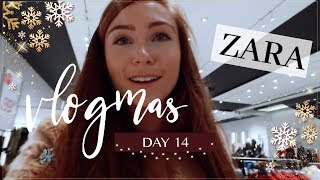 COME SHOPPING WITH ME TO ZARA | Vlogmas 2018 Day 14