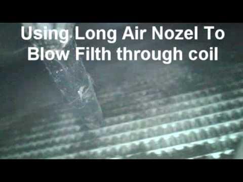 DIY Clean Car Condenser Coil - YouTube