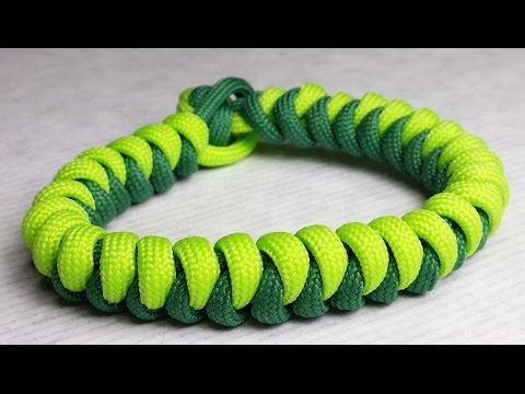 How to make Snake paracord bracelet without buckle by