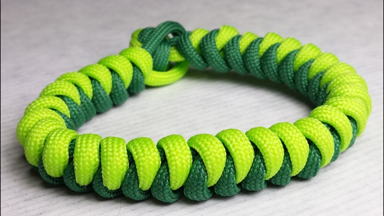 How to make snake paracord bracelet without buckle by for What can you make out of paracord
