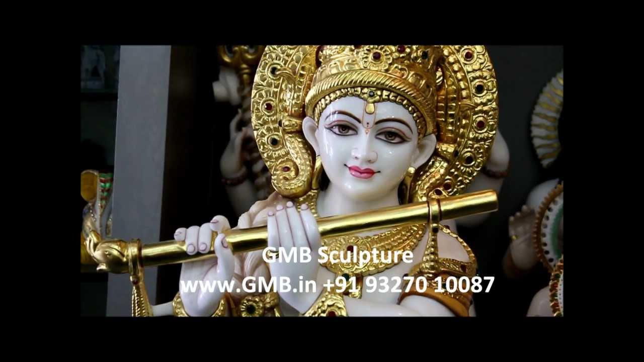 Lord Krishna Statue From Marble Gmb Sculptures Www Gmb