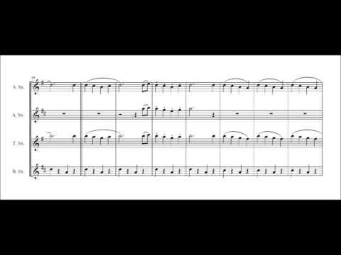 Whistling Disney for saxophone quartet