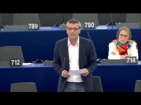 Edouard MARTIN intervient sur l'industrie ferroviaire européenne - PE Strasbourg le 9 Juin 2016