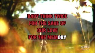 Think Twice in the style of Celine Dion | Karaoke with Lyrics