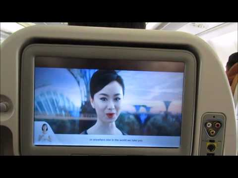 Singapore Airlines New A330-300 Safety video