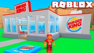 Roblox → CONSTRUINDO UM BURGER KING !! - Roblox Fast Food Tycoon 🎮