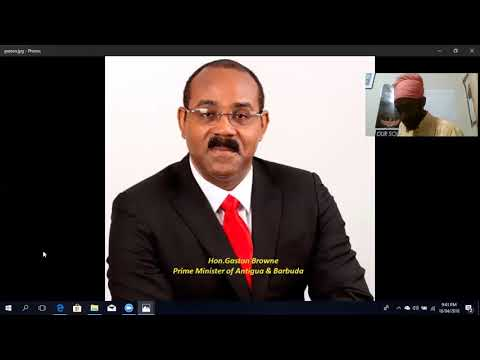 HON. GASTON BROWNE PRIME MINISTER OF ANTIGUA TO LEGALIZE MAR