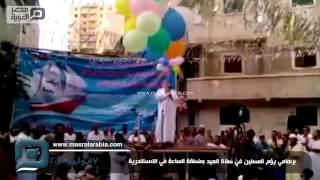 مصر العربية |  برهامي يؤم المصلين في صلاة العيد بمنطقة الساعة في الاسكندرية