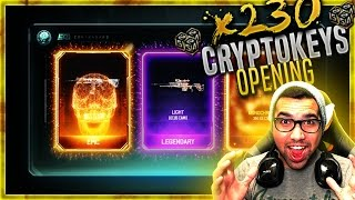 BACK to BACK EPICS! 230+ Cryptokeys Black Ops 3 MOST EPICS EVER! BO3 Best Supply Drop OPENING!