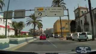 QQLX 0039 SPAIN Ferry from Algeciras to Ceuta - Street View Car 2012