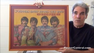 Beatles 1967 U.K. Promo Poster for Sgt. Pepper's Album