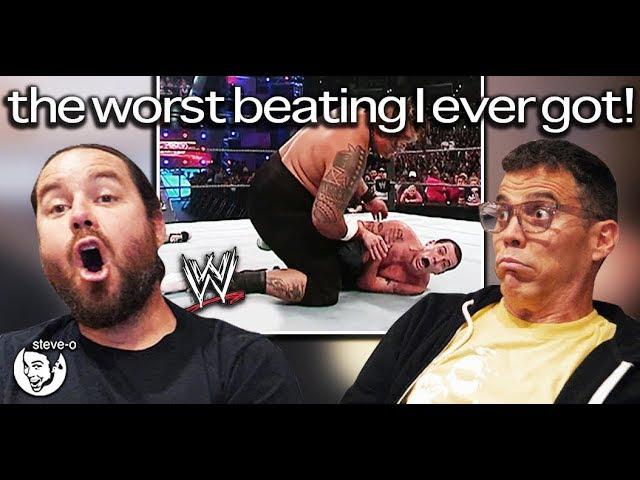 WWE - The Worst Beating I Ever Got! ft. Chris Pontius (Reaction) | Steve-O