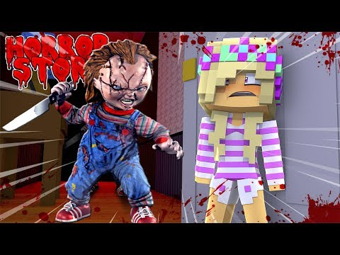 Minecarft CHUCKY THE DOLL BECOMES EVIL AND WANTS BLOOD!!! Baby Leah