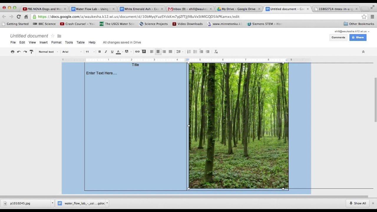 using google docs to make a poster presentation - youtube, Presentation templates