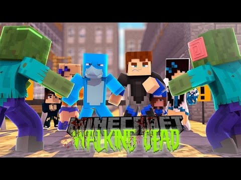 Minecraft THE WALKING DEAD - CAN SHARKY AND SCUBA STEVE SURVIVE THIS TIME??