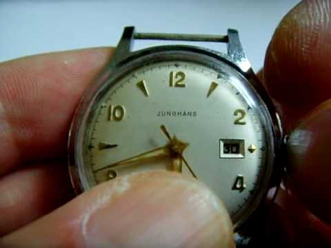 Vintage Rare Junghans Mechanical Watch With Date