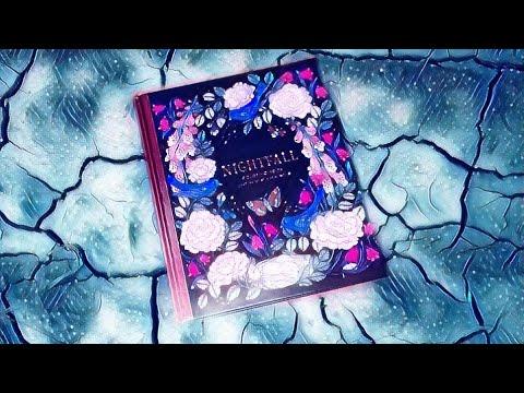 Coloriage Fleur Coucou.Presentation Livre De Coloriage Nightfall De Maria Trolle Youtube
