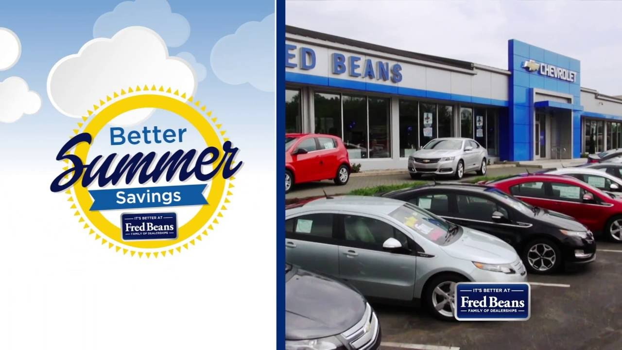 Fred Beans Chevy Better Summer Savings Event Youtube