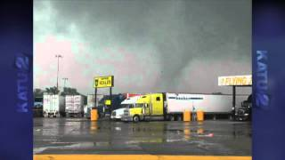 Texas Truck Stop Tornado - Video from Gene Tomlinson