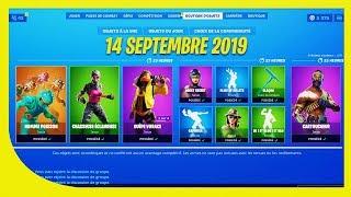 BOUTIQUE FORTNITE du 14 Septembre 2019 ! Retour du skin Cartoucheur !