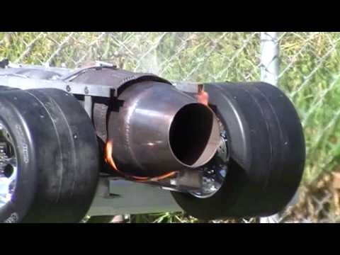 Smithy's 1/4 scale Rc jet dragster... after burner demo.