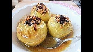 Печенные Яблоки в Мультиварке с Изюмом и Корицей  | Baked Apples Recipe