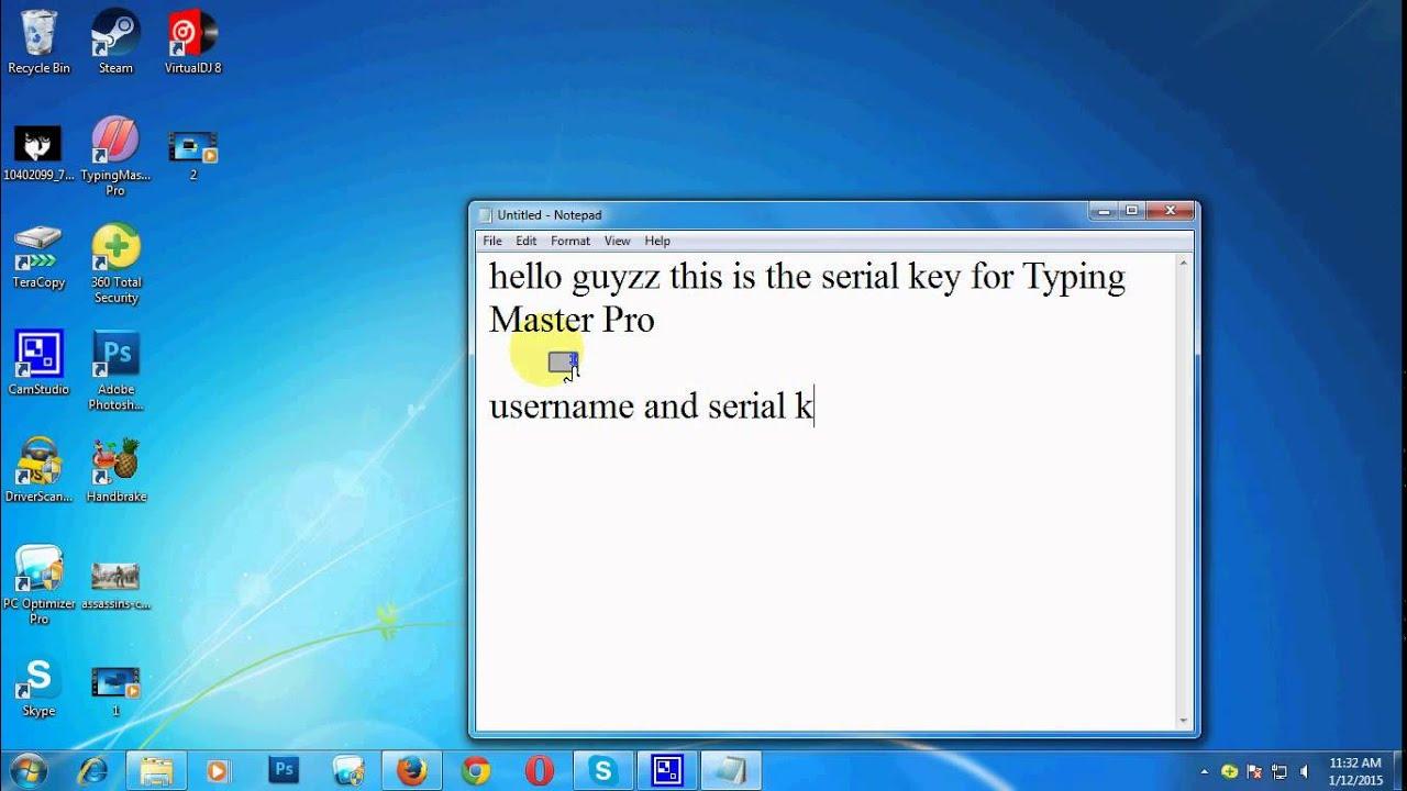 typing master pro registration key