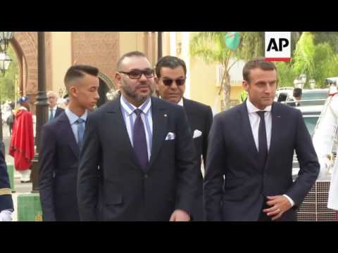 Macron and King Mohammed VI hold talks in Rabat