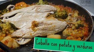 Caballa con patata y verdura ··· Recetas Saludables
