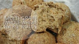 멀티그레인 통밀 하드롤  Multi Grain Whole Wheat Hard Rolls -how To, Recipe
