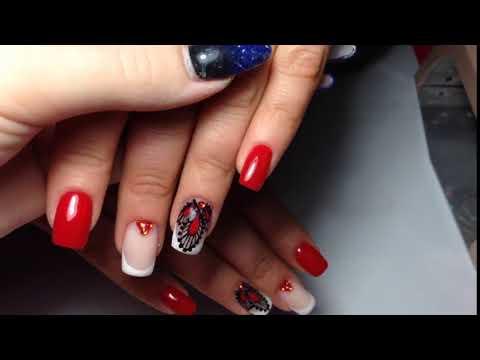Стильные красные ногти