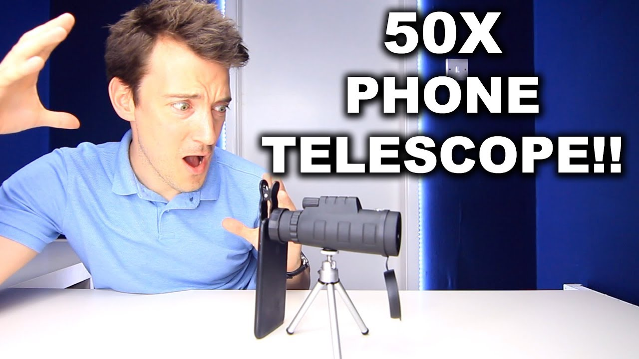 50x phone monocular telescope review!!! youtube