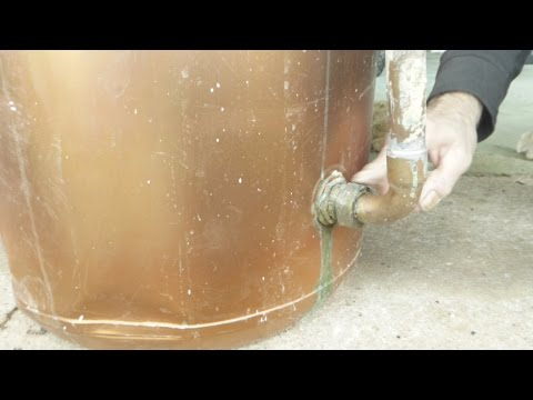 How to fix a leaking flange joint on a hot water tank