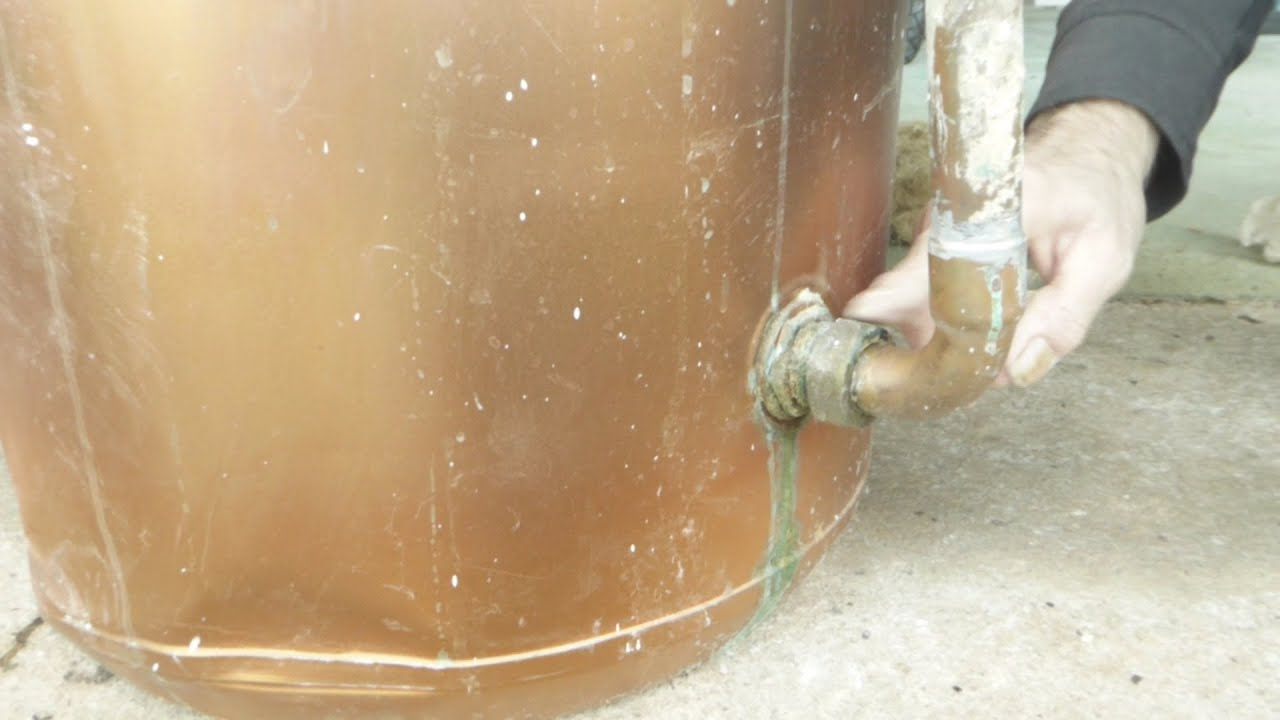 How to fix a leaking flange joint on a hot water tank   #8D663E