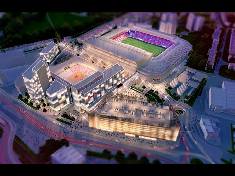 The new Ashton Gate Sports & Convention Centre 3D fly-through