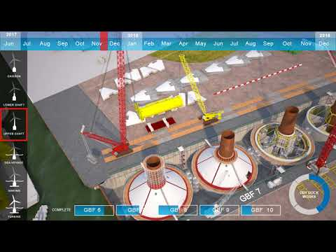 Blyth Offshore Wind farm Construction sequence preview