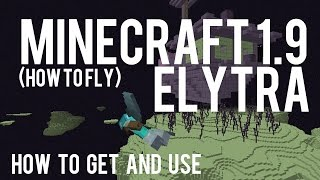 Repeat youtube video How To Get and Use Elytra in Minecraft 1.9 - How to fly Vanilla Minecraft - 15w41b